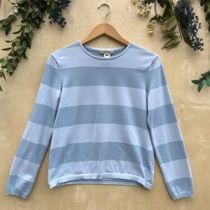 Nine West Preppy Blue Striped Shirt